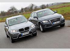 SUVVergleich BMW X3 gegen Audi Q5 Bilder autobildde