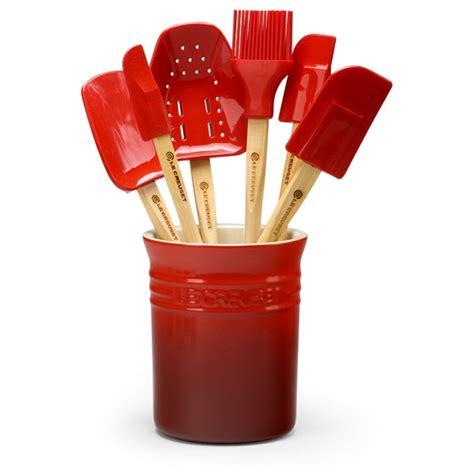 le creuset spatula set le creuset silicone  piece cherry red spatula set cutlery