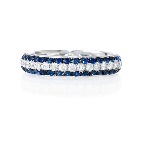 ct diamond  blue sapphire  white gold eternity