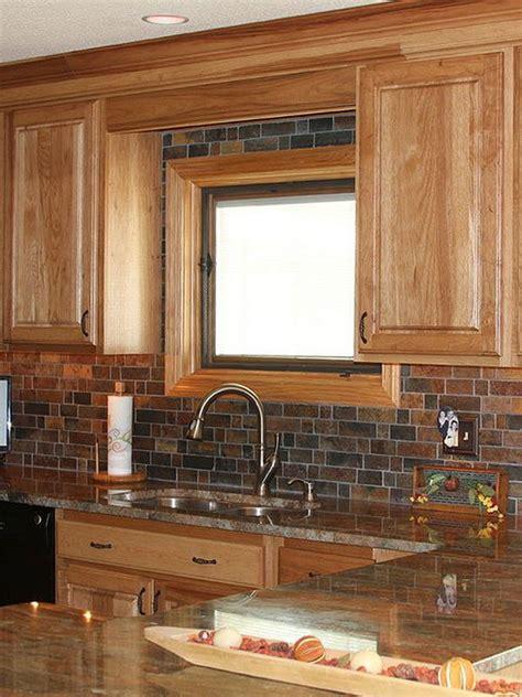 granite countertops for oak kitchen cabinets oak cabinet granite countertop with rustic slate mosaic 8337