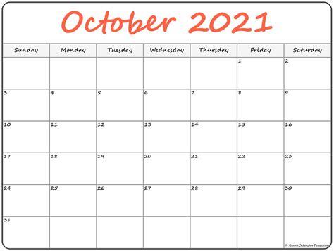 october  calendar  printable monthly calendars