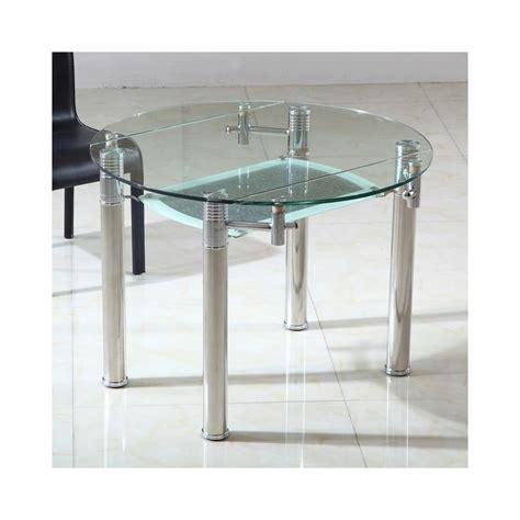 table en verre but table ronde en verre extensible ronde table de lit