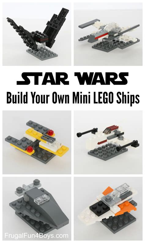 Build Your Own Lego Mini Star Wars Ships Frugal Fun For