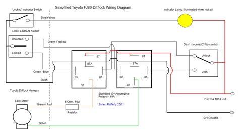 simplified fj80 difflock wiring diagram land cruiser club