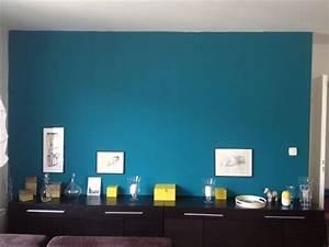 Bleu Canard Se Marie Avec Quelle Couleur : mur salon bleu canard couloir pinterest salons ~ Zukunftsfamilie.com Idées de Décoration