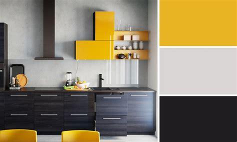 cuisine jaune et noir quelles couleurs se marient avec le jaune