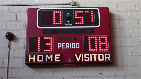 electromechanical fair play bb  basketball scoreboard