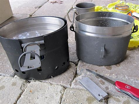 swedish army trangia a b cook set w billy can