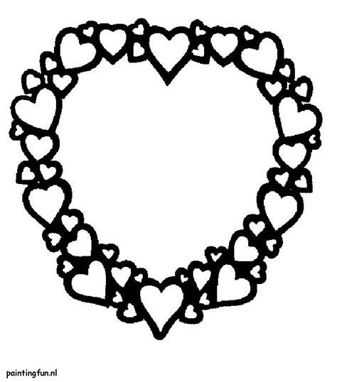 Kleurplaat Juf Valentijn by Valenijn En Liefde Hart Met Kleine Hartjes