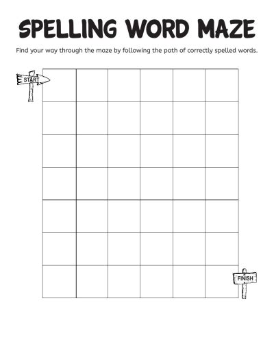 spelling word maze worksheets printables scholastic parents