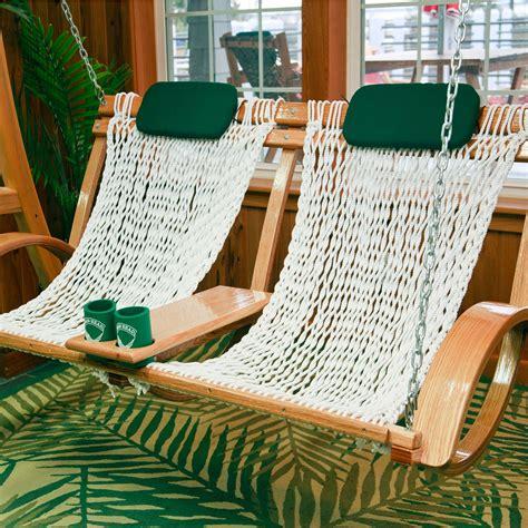 hammock chair swing deluxe bent oak porch swing