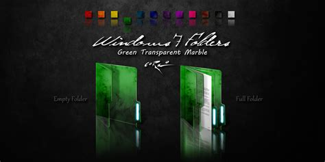 4 colors 4 set green windows 7 folders by drawder on deviantart