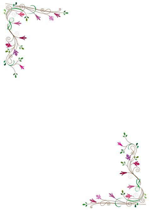 frame fleurs  clipart floral frame flowers