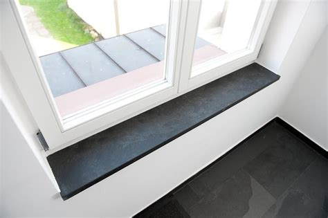 Fensterbank Fensterbänke Fensterbretter Schiefer Negra Schwarz
