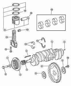 2005 Dodge Sprinter 2500 Piston  Rod  Connecting  Engine