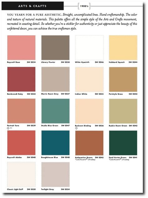 historic paint colors and palettes