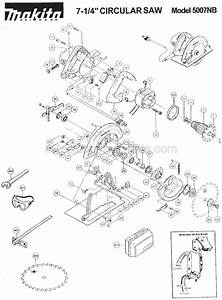 Makita 5007nbk Parts List And Diagram   Ereplacementparts Com