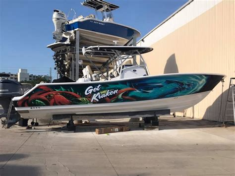 Kraken Boat Graphics by Bad Boat Wrap Quot Get Kraken Quot Sign Graphics Palm Harbor