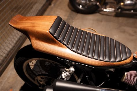 Hand Formed Wooden Motorcycle Seat. The Handbuilt Show In