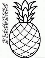 Pineapple Coloring Printable Fruit Adults sketch template
