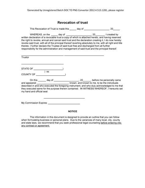 trust agreement template uk sle revocation of trust form blank revocation of trust