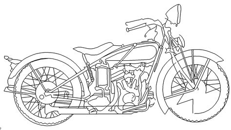 motorrad motorbike das  portal fuer dxf dwg dateien