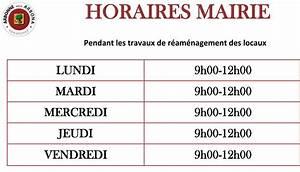 Horaire D Ouverture Gifi : changement des horaires d ouverture de la mairie mairie ~ Dailycaller-alerts.com Idées de Décoration