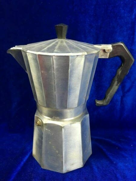 Dishwasher safe and stain resistant, the percolator comes complete with a trivet to be used on coil electric stoves. INOX 3 Cup Espresso Maker Stove Top Coffee Peculator Made in Italy Express for sale online   eBay