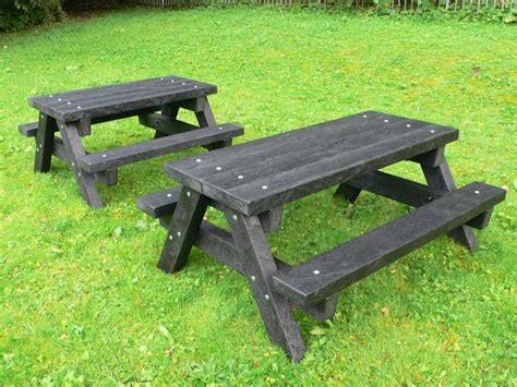 plastic composite picnic tables ribble junior picnic table recycled plastic heavy duty