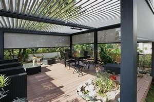 pergola bioclimatique la toiture terrasse geniale par With rideau pour pergola exterieur 9 terrasse couverte abri de terrasse pergola tonnelle