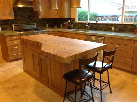 butcher block kitchen island breakfast bar maple butcher block islands with breakfast bar made