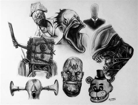 Horror Game Characters By