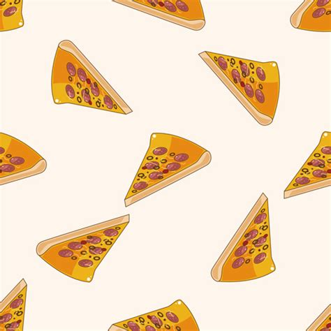 Decorator Pattern Java Pizza by Pizza Pattern Seamless Vectors 04 Vector