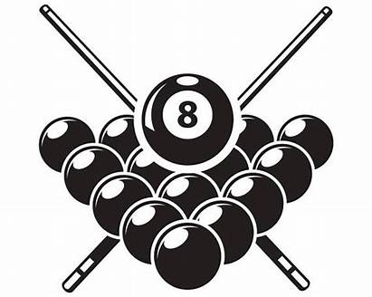 Pool Billiards Svg Ball Clipart Rack Sticks