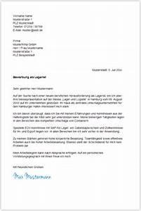 Bewerbung Als Lagerarbeiter : bewerbungsschreiben muster vorlagen von a z ~ Eleganceandgraceweddings.com Haus und Dekorationen