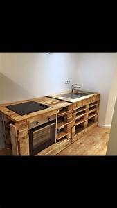 Küche Aus Europaletten : selfmade diy kitchen paletten k che einrichten kitchen diy holz einrichten pinterest ~ Whattoseeinmadrid.com Haus und Dekorationen
