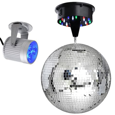led stage lighting kit 12 quot mirror disco ball dj stage party led light rotating