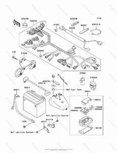 Kawasaki Motorcycle 2003 Oem Parts Diagram For Chassis