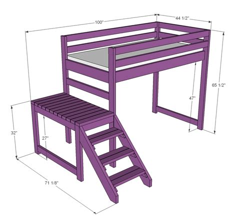 white c loft bed with stair junior height diy projects