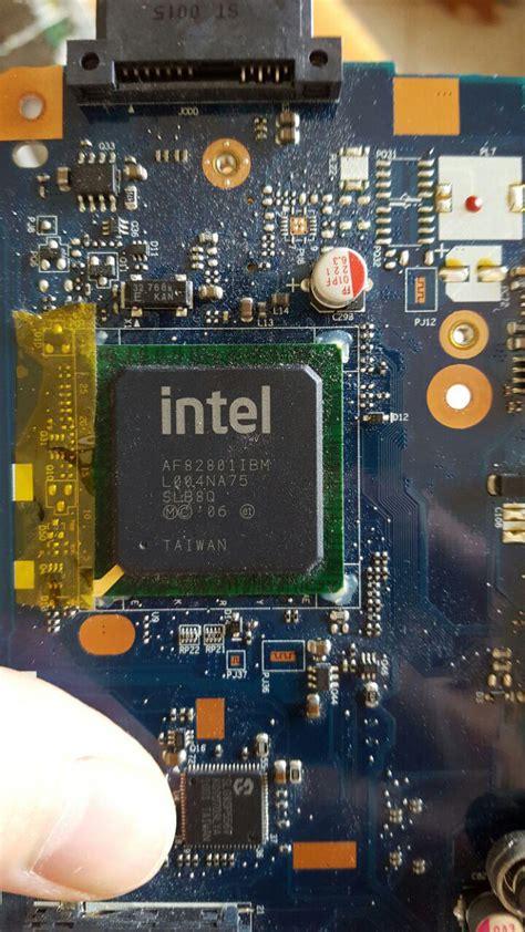 strange footprint labeled pj  laptops motherboard
