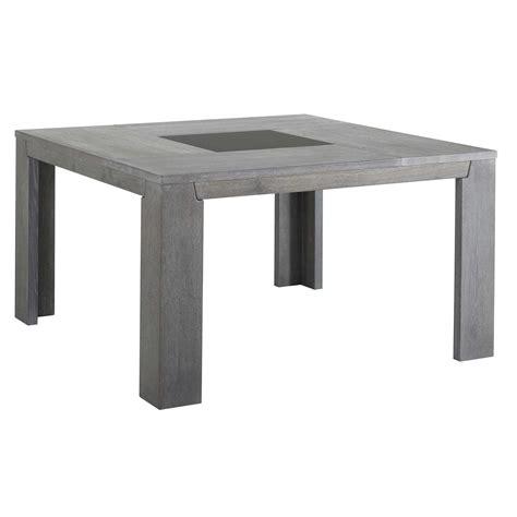 table a manger carree avec rallonge last meubles table carr 233 e sydney gris 140cm x 77 5cm x 140cm pas cher achat vente tables