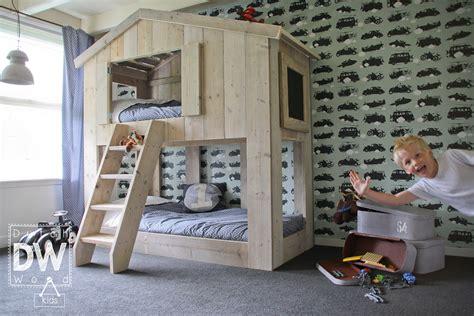 lit cabane superpos 233 enfant dutchwood
