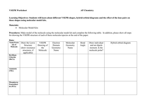 Worksheet Shapes Of Molecules Worksheet Worksheet Fun Worksheet Study Site
