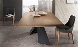 Table Plateau Bois : table pied acier plateau bois vs29 montrealeast ~ Teatrodelosmanantiales.com Idées de Décoration