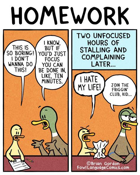 Do Home Work by Homework Fowl Language Comics