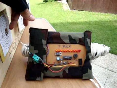 homemade electronic airsoft target  kevin  read  description youtube