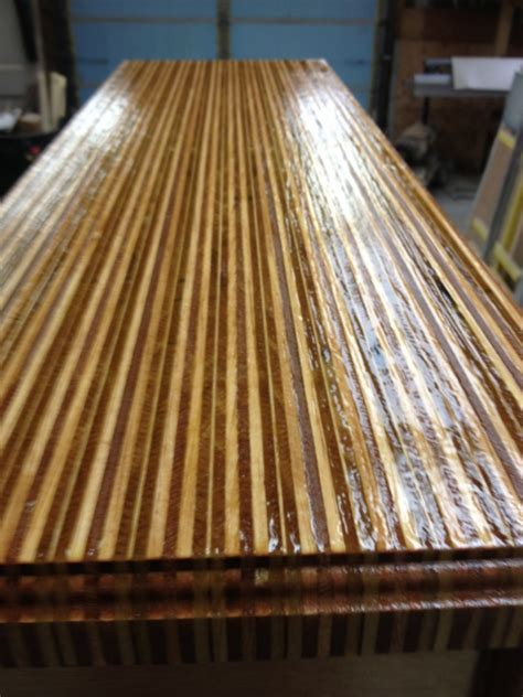 I am considering topcoating the maple with watco® danish oil natural to protect it from water/oil and other food spills. Plywood Table - Carpentry Picture Post - Contractor Talk