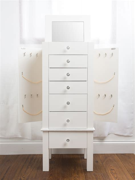 White Jewelry Armoire by Jewelry Armoire