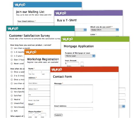 how wufoo builds and manages forms on your business website