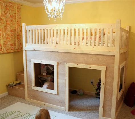 playhouse loft bed  storage stairs click  links